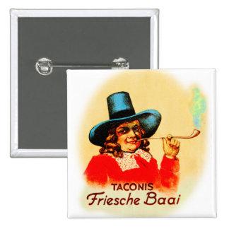 Vintage Tobacco Dutch Smoking Pipe Friesche Baai Pin