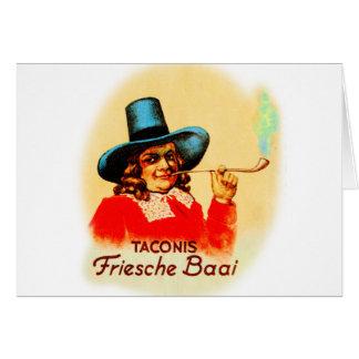 Vintage Tobacco Dutch Smoking Pipe Friesche Baai Greeting Card