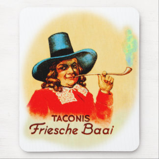 Vintage Tobacco Dutch Smoking Pipe Friesche Baai Mouse Pad