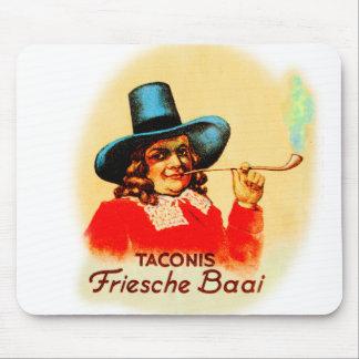 Vintage Tobacco Dutch Smoking Pipe Friesche Baai Mouse Pad