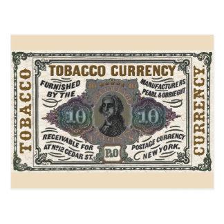 Vintage Tobacco Promotional item - colorized Postcard