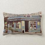Vintage tobacco shop in France Pillow