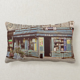 Vintage tobacco shop in France Throw Pillows
