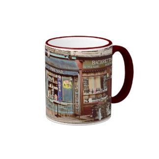 Vintage tobacco shop in France Ringer Mug