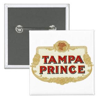 Vintage Tobbacco Cigars Tampa Prince LabelVintage Pinback Button