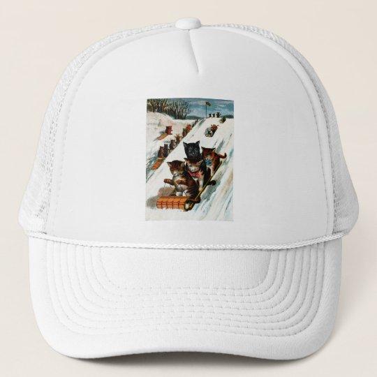 Vintage Toboggan Cats Trucker Hat