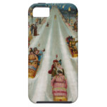 Vintage Toboggans On a winter night iPhone 5 Covers
