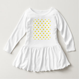 Vintage toddler dress : yellow with white