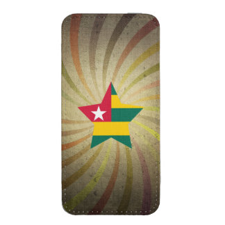 Vintage Togolese Flag Swirl iPhone 5 Pouch