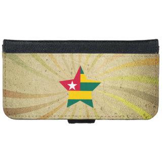 Vintage Togolese Flag Swirl iPhone 6 Wallet Case