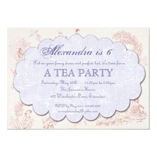 Vintage Toile Birthday Tea Party Invitation