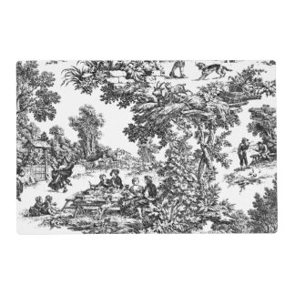 Vintage Toile Black&White Placemat
