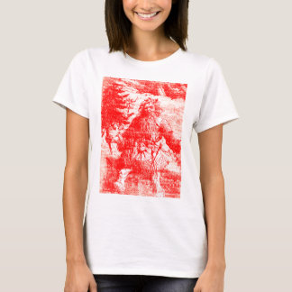 Vintage Toile Santa Claus Colonial Period Pattern T-Shirt