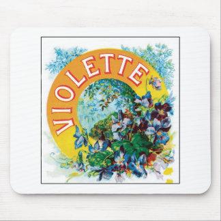 Vintage Toilet Water Perfume Label Art Mouse Pad