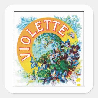 Vintage Toilet Water Perfume Label Art Square Sticker