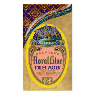 Vintage Toilet Water Poster Business Card