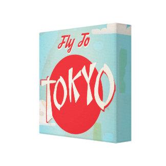 Vintage Tokyo, Japan Travel Posters Canvas Print