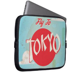Vintage Tokyo, Japan Travel Posters Laptop Sleeve