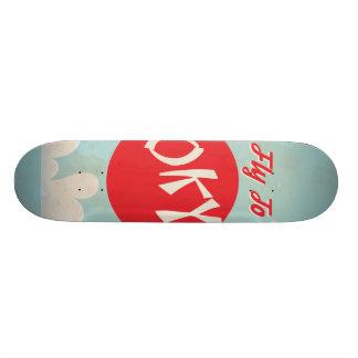 Vintage Tokyo, Japan Travel Posters Skateboard Deck