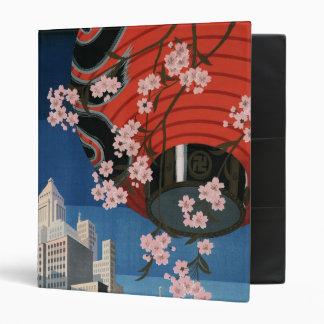 Vintage Tokyo travel 3 Ring Binder