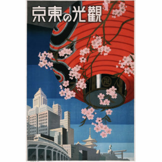 Vintage Tokyo travel Cutout