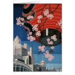 Vintage Tokyo travel Greeting Cards