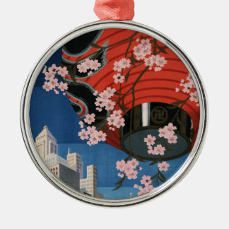 Vintage Tokyo travel Metal Ornament