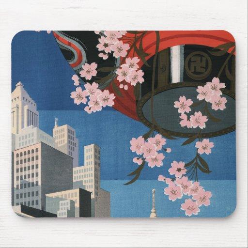Vintage Tokyo travel Mousepads