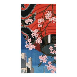 Vintage Tokyo travel Photo Greeting Card