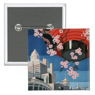 Vintage Tokyo travel Pinback Button