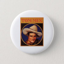 Vintage Tom Mix Cowboy Cigar Label Pinback Button