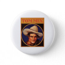 Vintage Tom Mix Cowboy Cigar Label Pinback Button