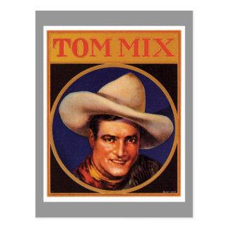 Vintage Tom Mix Cowboy Cigar Label Post Card