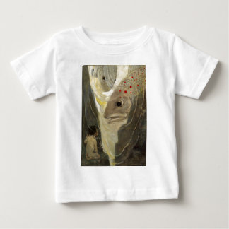 Vintage Tom Thumb Koi Pond Water Color Painting Baby T-Shirt