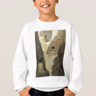Vintage Tom Thumb Koi Pond Water Color Painting Sweatshirt