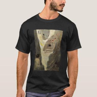Vintage Tom Thumb Koi Pond Water Color Painting T-Shirt