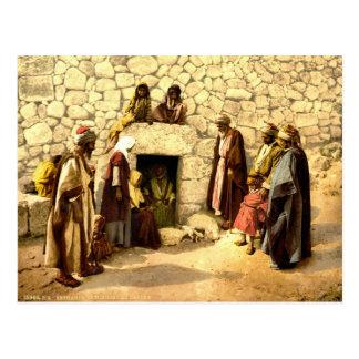 Vintage Tomb of Lazarus Bethany Israel 1890 Postcard