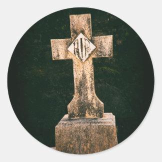 Vintage Tombstone Classic Round Sticker