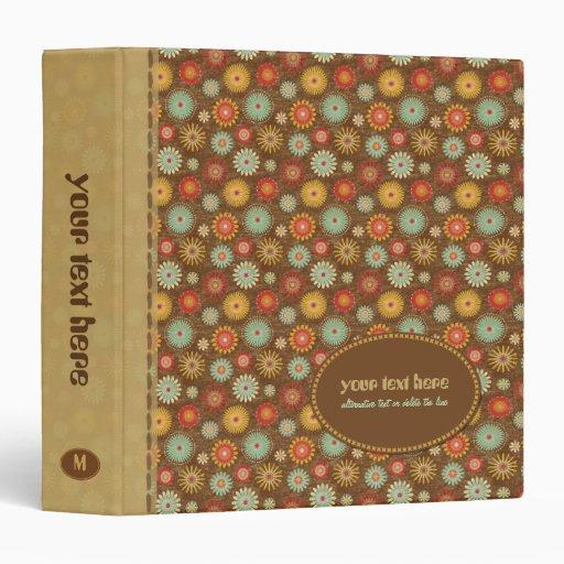 Vintage Tones Floral Pattern Binder