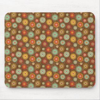 Vintage Tones Floral Pattern Mouse Pad