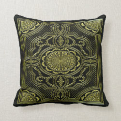 Vintage Tooled Leather Effect Throw Pillow