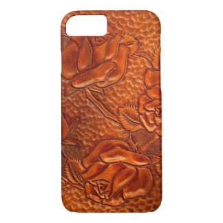 Vintage Tooled Western Leather Roses iPhone 8/7 Case