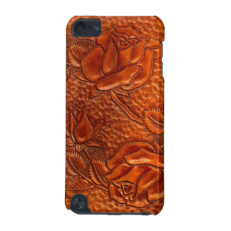 Vintage Tooled Western Leather Roses iPod Case iPod Touch 5G Cases