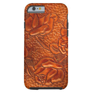 Vintage Tooled Western Leather Roses Tough iPhone 6 Case