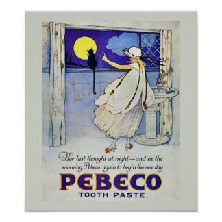 Vintage Toothpaste Poster