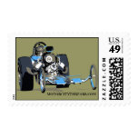 Vintage Top Fuel Drags Postage Stamps