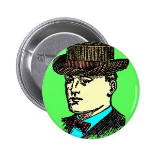 vintage top hat man pin
