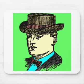 vintage top hat man mouse pad