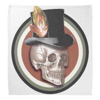 Vintage Top Hat Skull Bandana