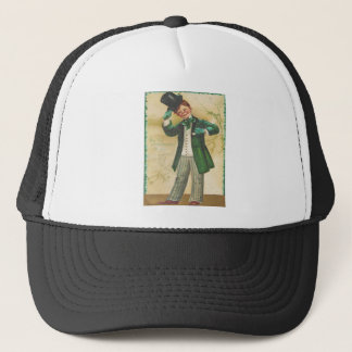 Vintage Top Of The Morning St Patrick's Day Card Trucker Hat